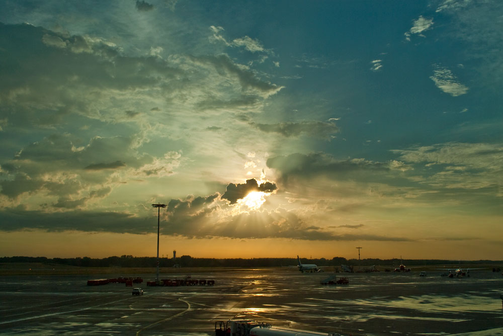 Sunset Hamburg Airport #2