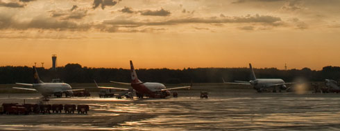 Sunset Hamburg Airport